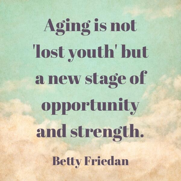 Quote about aging by Betty Friedan