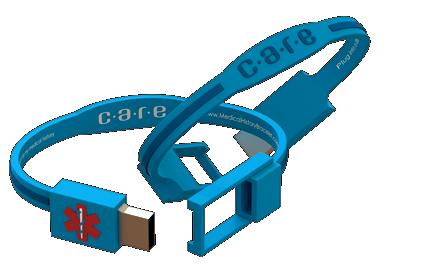 CARE Medical History Bracelet, assistive technology for seniors; live your retirement dot com