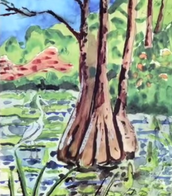 art therapy for seniors with alzheimer's, lester potts paintings; live your retirement dot com