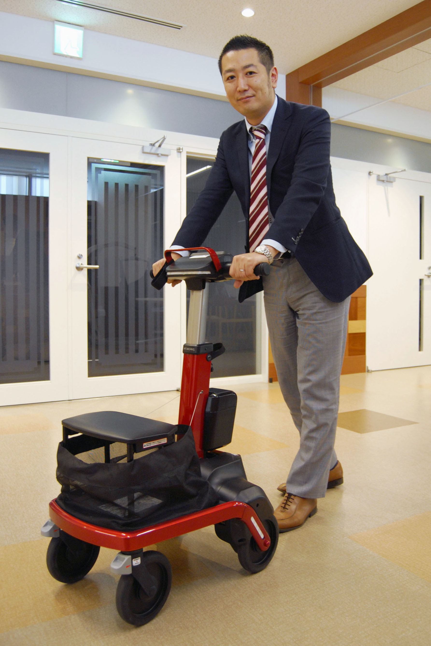 robot assist walker rt 1; japan care robot; carebot; technology; live your retirement