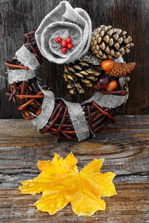 Autumn Leaves Wreath; live your retirement