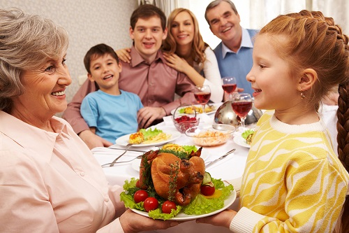 multi-generational thanksgiving; thanksgiving with family; thanksgiving with seniors; live your retirement