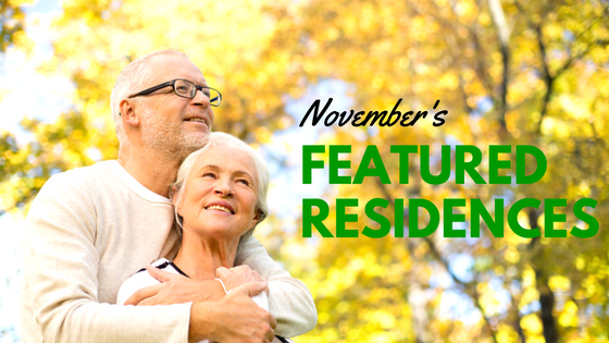 Meet Our November Featured Residences