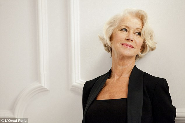 Helen Mirren modelling for L'Oréal Aging Products
