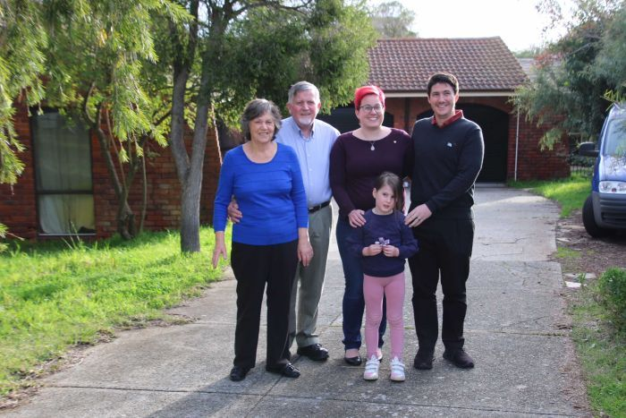 The Bruyninckx and Feary family moved in together and installed a granny flat.